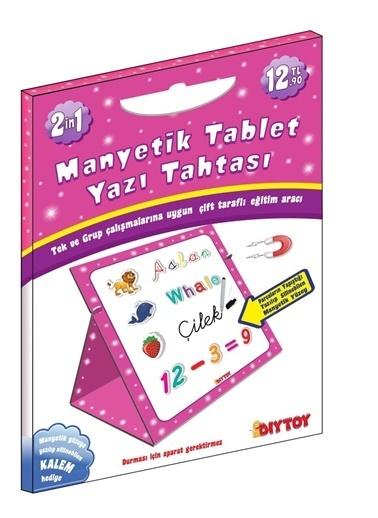 Bunjoy Diy-Toy Yayınları Manyetik Tablet Yazı Tahtası Pembe 8512 Renkli